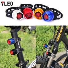 YLEO Aluminum bike rear light USB rechargeable bicycle taillight  mini size led usb lights Fishing Riding