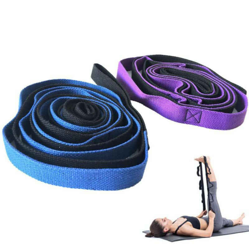 2 bandes de résistance de Yoga de couleur étirant la ceinture de sangle équipement de Fitness en plein air d'intérieur formation jambe corps exercice Sport flexibilité