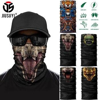 Animal Dinosaur Tube Scarves Tiger Wolf Half Mask Face Cover Running Hiking Hunting Bicycle Summer Neck Gaiter Men Women Bandana - discount item  35% OFF Scarves & Wraps