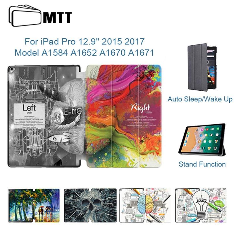 "Mtt couro do plutônio para ipad pro 12.9 polegada tablet caso 2015 2017 ímã flip smart cover para ipad pro 12.9 ""a1584 a1652 a1670 a1671"