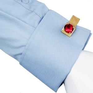 Image 5 - HAWSON boutons de manchette pour hommes avec chaînes, pierres en or brillant et accessoires de chemise, cadeaux de fête pour jeunes hommes