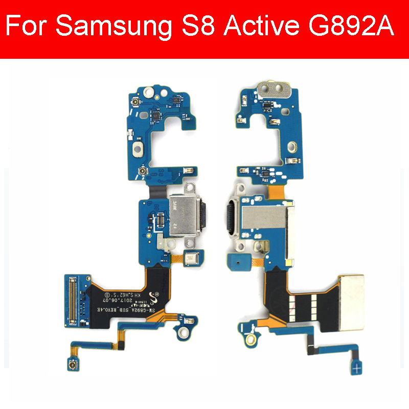 USB Charging Jack Dock Board For Samsung Galaxy S8 Active G892A USB Charger Port Flex Ribbon Cable Replacement Repair Parts