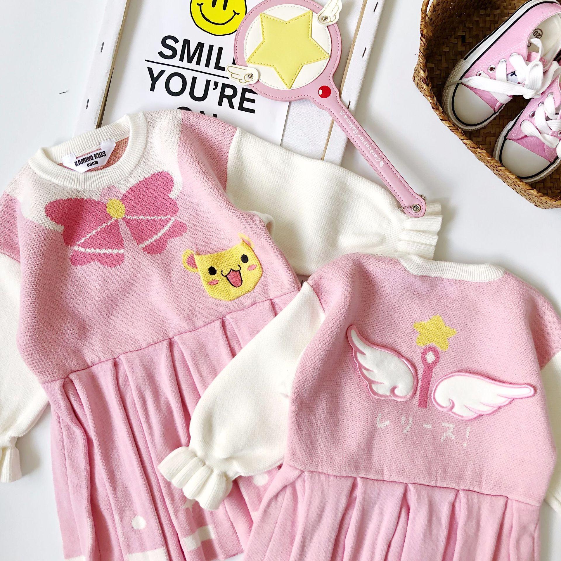 2019 enfants robes pour filles en tissu ange tricot robes bébé fille robe de noël robe élégante tutu robe de noël vêtements