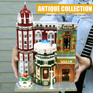 Image 4 - MOC 15008 Street View Building Toys Compatible With 10185 Green Grocer Led Light Model Building Blocks Kids Christmas Toys Gifts