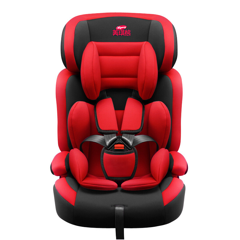 8129Child Safety Seating 9 months -12-year-old baby car-mounted seat Red