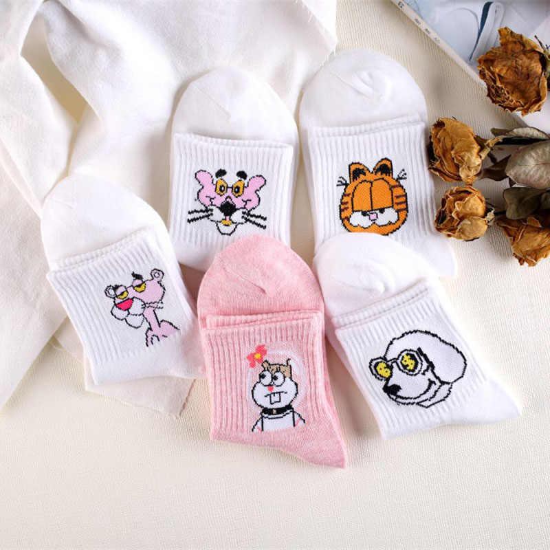 יפני Kawaii נשים בעלי חיים קריקטורה צינור גרביים חמוד ביצת ארנב פנתר כותנה ארוך גרבי נקבה וגבירותיי ורוד חלב לבן סוקס