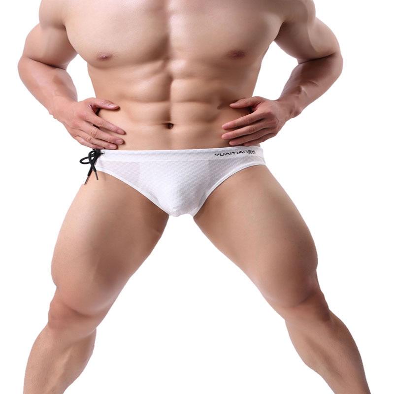 Brave Person Mens Swimwear Briefs Swimsuit Breathable Brand Bulge Bikini S-XL