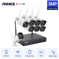 ANNKE 3MP WiFi Video Überwachung System 5MP NVR 3MP IP Kameras Audio Aufnahme Sicherheit Kameras AI Erkennung CCTV Kameras Kit