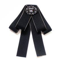 2019 мода новый ручной Стразы галстук бабочка Брошь платье профессиональная