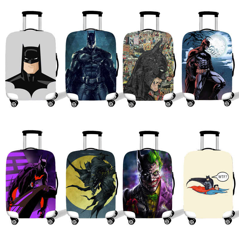 Elastic Luggage Protective Cover Case For Suitcase Protective Cover Trolley Cases Covers 3D Travel Accessories Batman  Pattern