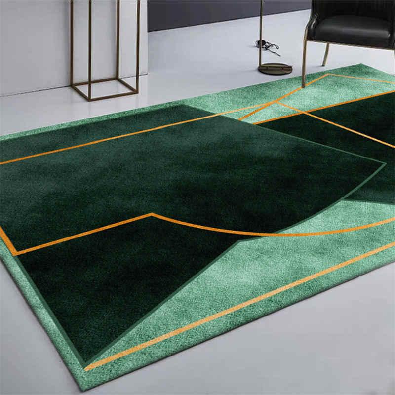 Dark Green Irregular Geometric Pattern