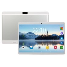 Tableta pc de 10 pulgadas, Tablet con batería integrada de 3000mAh, 6 + 64GB, llamadas de teléfono, GPS, WiFi, bluetooth, enchufe europeo, color blanco