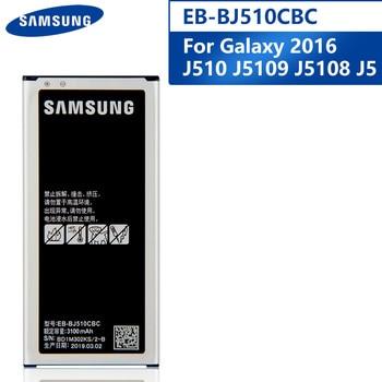 Original Replacement Phone Battery EB-BJ510CBC For Samsung GALAXY 2016 Version J510 j5109 j5108 J5 EB-BJ510CBE Battery 3100mAh original replacement samsung battery for galaxy 2016 version j5109 j5108 j5 sm j510 genuine eb bj510cbe eb bj510cbc 3100mah