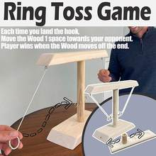 Party Toys Handmade Wooden Ring Toss Hooks Fast-paced Interactive Game for Bars Home Hook and Ring Toss Battle Game Dropshipping