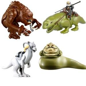 4 шт. Звездные войны Dewback Rancor Jabba taunduun фигурки совместимые Lepining строительные блоки Звездные войны модель игрушки для детей подарок