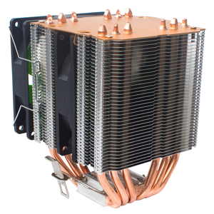 Image 4 - X79 X99 CPU del dispositivo di raffreddamento del ventilatore 4pin 115X 1366 2011 6 heatpipe dual torre di raffreddamento 9 centimetri fan di supporto Intel AMD RGB ARGB fan ryzen