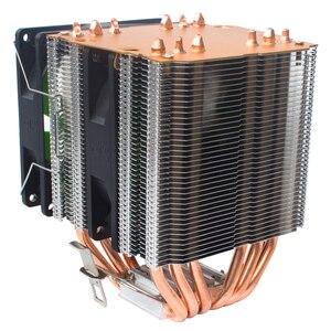 Image 4 - X79 X99 chłodnica procesora 4pin wentylator 115X 1366 2011 6 heatpipe podwójna wieża chłodzenie 9cm wsparcie fanów Intel AMD RGB ARGB wentylatory ryzen