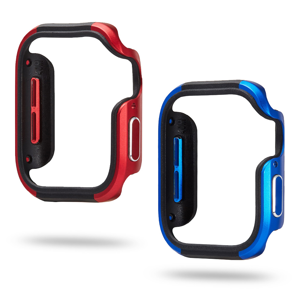 New Design Aluminum Alloy+TPU Case for Apple Watch Series 5 4 Cover 44mm 40mm Bumper High Quality Shell for iWatch Accessories
