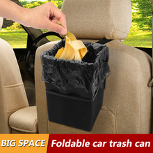 Car Trash Can with Lid Leak-Proof Organizer Multipurpose Bin For Garbage Holder Seat Back Foldable Auto