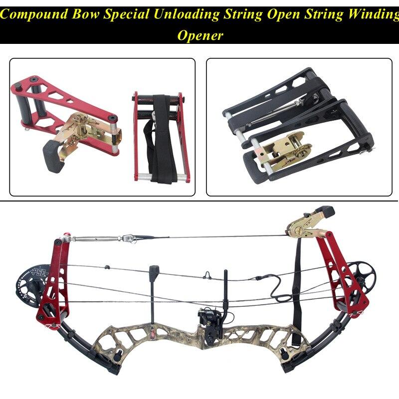 Compound Bow อลูมิเนียม String เปิด String Bow กดเปิดอลูมิเนียม Compound Bow Arco E flecha อุปกรณ์เสริม