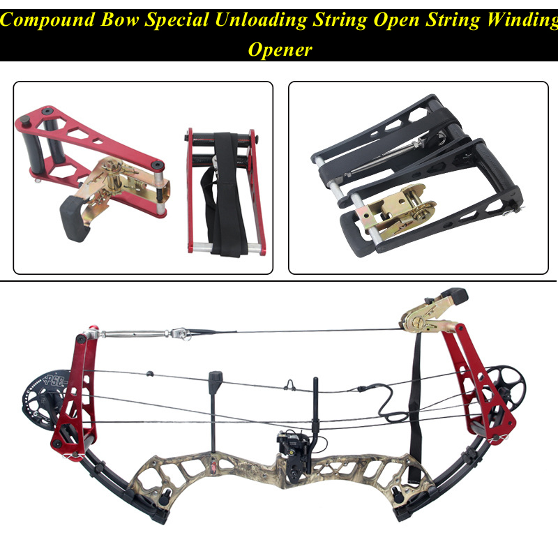 Compound Bow Aluminum Alloy String Opener String Bow Press Opener Aluminum Alloy Compound Bow Arco E Flecha Accessories