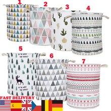 Urijk 2019 nueva cesta de ropa sucia plegable almacenamiento redondo cesto grande ropa plegable juguete lavandería soporte organizador envío rápido