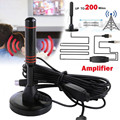 HD цифровая комнатная усиленная ТВ-антенна на 200 миль Ultra HD TV с усилителем VHF/UHF быстрое реагирование комнатная и уличная Воздушная HD-антенна