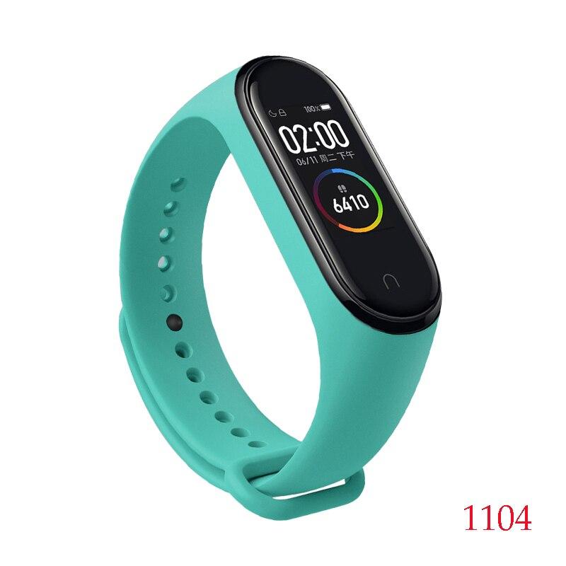 Для Xiaomi Mi Band 4/3 ремешок Металлическая пряжка силиконовый браслет аксессуары miband 3 браслет Miband 4 ремешок для часов М - Цвет: 1104