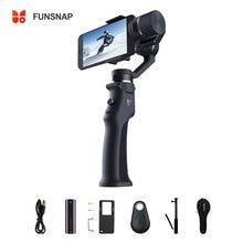 Funsnap 3 축 안정기 3 콤보 핸드 헬드 스마트 폰 Gimbal Stabilizer for iPhone GoPro 7 6 5 sjcam EKEN Yi 액션 카메라
