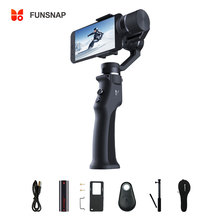 Funsnap 3 Axis Stabilizer 3 Combo Handheld Smartphone Gimbal Stabilizer for iPhone GoPro 7 6 5 sjcam EKEN Yi Action camera