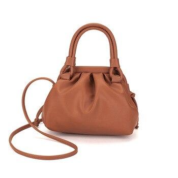 Retro Fold Dumpling Cloud Bag Woman 2019 Autumn and Winter New Single Shoulder Oblique Span Handbag