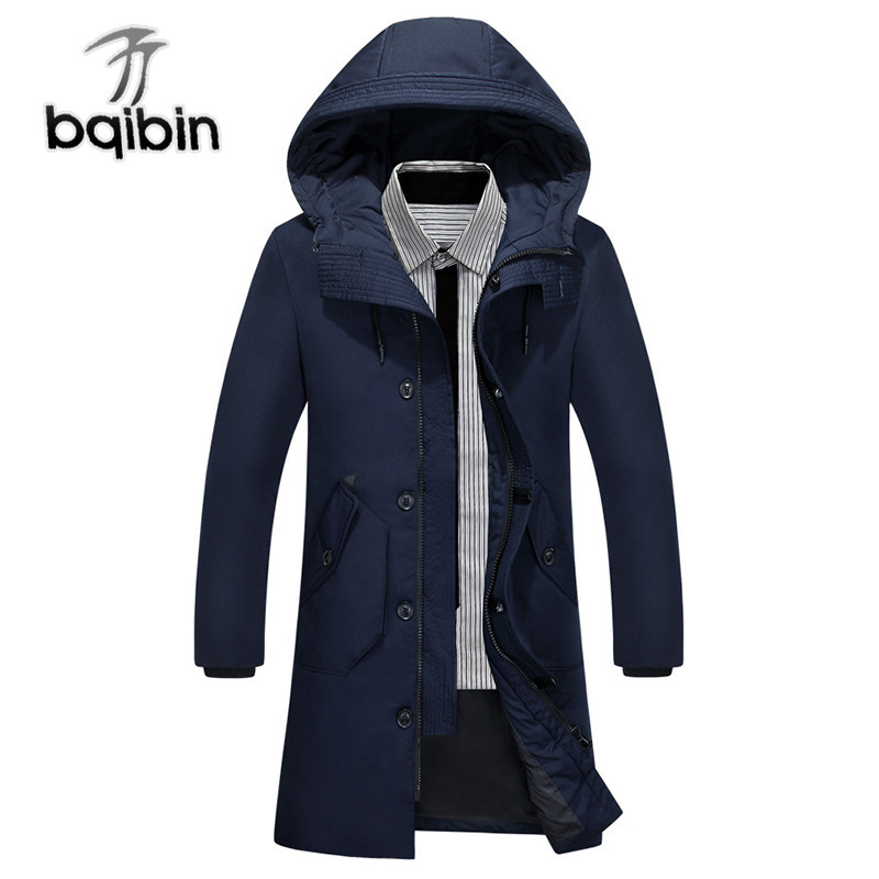 2019 White Duck Down Men's Jackets Quality Handsome Warm Long Fashion Business Winter Clothing Casual Coat Male Parkas