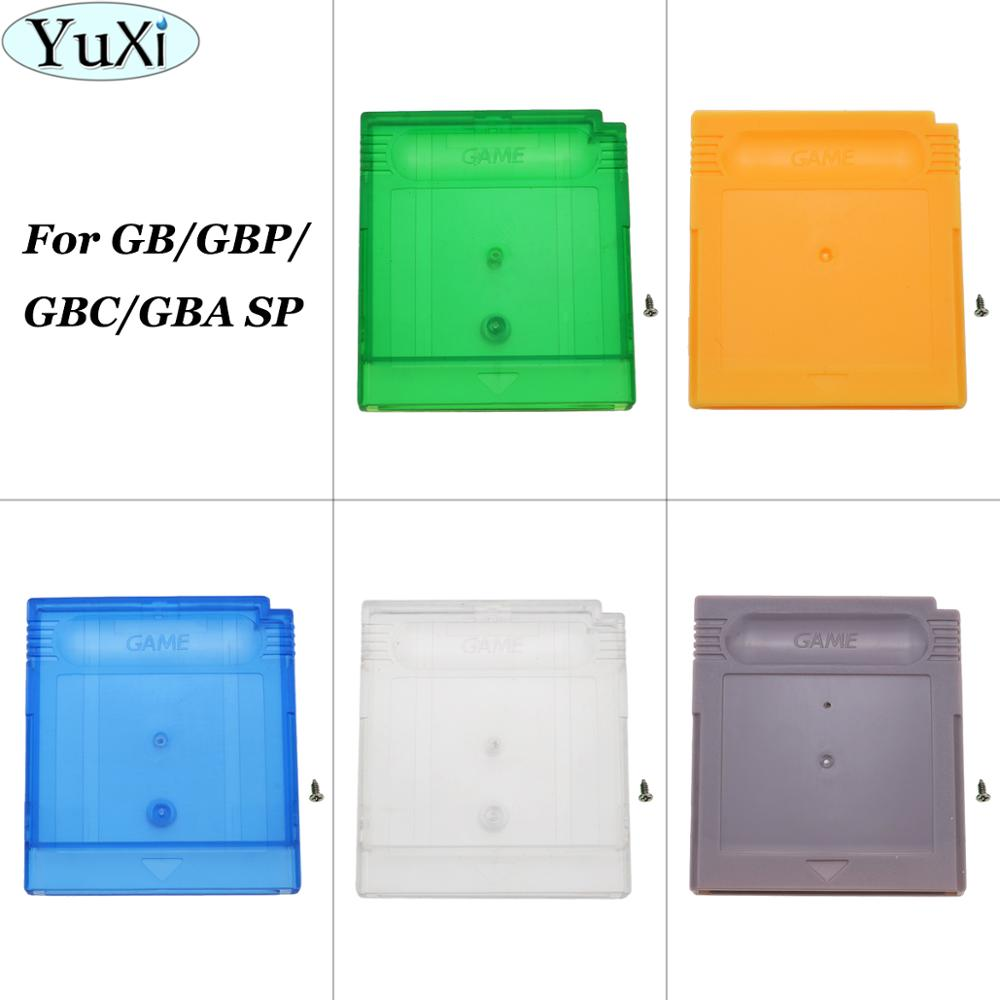 YuXi Replacement For GBA SP Game Cartridge Housing Shell For GB GBC GBP Card Case Grey Green Yellow Blue image