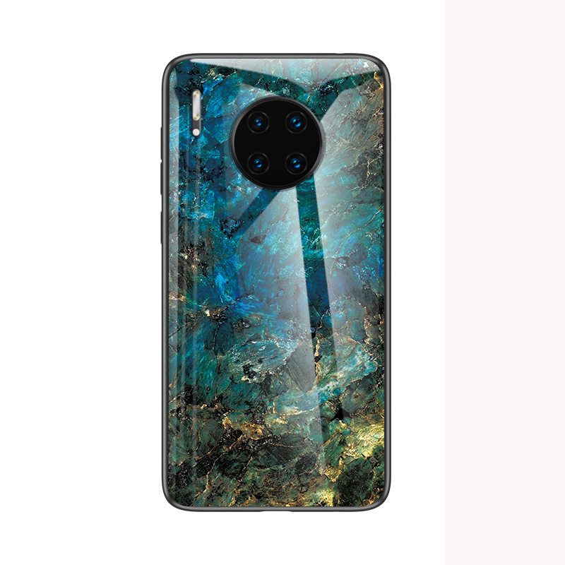 Mate30 Pro Tempered Glass Case For Huawei Mate 30 Pro P30 Lite Nova 4E Case HD Marble Pattern Cover For Huawei P 30Pro Funda