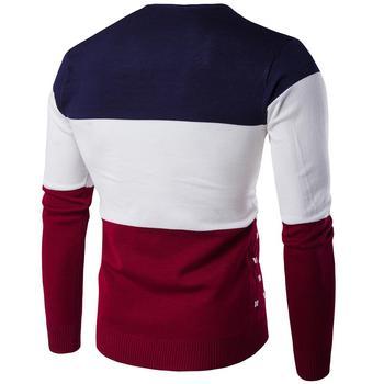 Suéter de invierno para hombre suéter informal hombre ajustado Jersey de punto