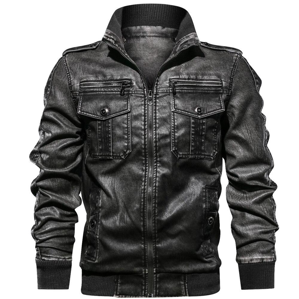 De los hombres de la PU chaqueta Fitness chaquetas de cuero de tamaño europeo Dropshipping. Exclusivo.-in Abrigos de piel sintética from Ropa de hombre    1