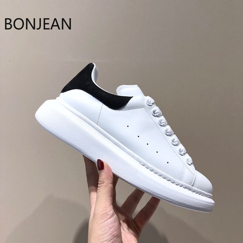 2020 High Version For White Shoes Women's White Shoes Men's White Shoes New Style Genuine Leather Silk Cow Leather Luxury Shoe