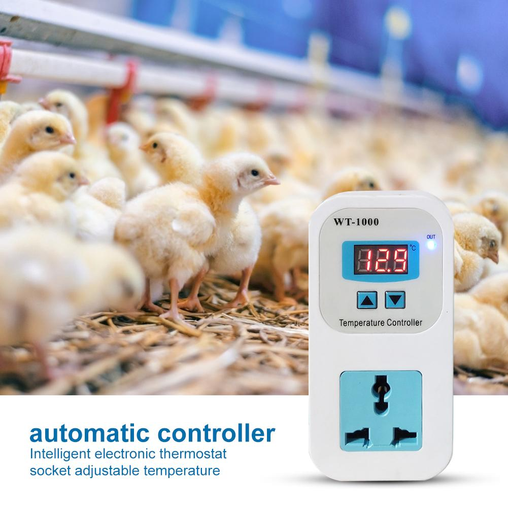 WT-1000 Smart Digital Thermostat Regulator Temperature Controller Socket Outlet Suitable For Refrigerator Industrial Chiller