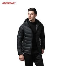 AEGISMAX Männer Ultra-Licht 95% Weiße Gans Unten 800FP Unten Außen Camping Warm Halten Unten Jacke