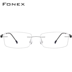 Image 4 - FONEX TR90 Titanium Alloy Rimless Glasses Men Women Frameless Prescription Optical Screwless Eyewear Eyeglasses Frame 7020