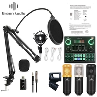 GAX-micrófono condensador para transmisión en vivo V9, mezclador de Audio, tarjeta de sonido, grabación, K, juego, ordenador, PC, transmisión de teléfono