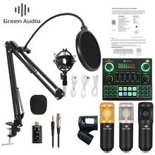 GAX V9 Live Broadcast Kondensator Mikrofon bluetooth Mixer Audio Soundkarte Aufnahme K Song Spiel Computer PC Telefon streaming