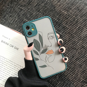 Art Retro Abstract Geometry Phone Case For iPhone X Xs max Xr 11 Pro Max 7 7 Puls 6 6S 7 8 Puls SE 2020 Cute Anti-fall Cover