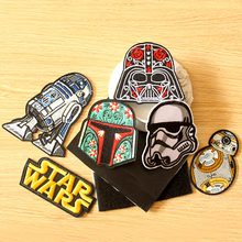 Prajna DIY Star Wars Hook Loop Patch Embroidered Patches For Clothing Iron on On Clothes Tactical/Military Badges
