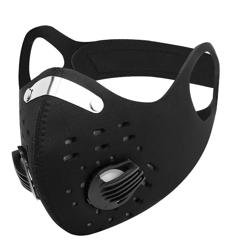 Men And Women Black Face Mask Activated Carbon Anti-virus Facemask Outdoor Bike Training Half Face Masks Fashion