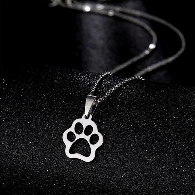 Dog Cute Footprints Necklaces 4