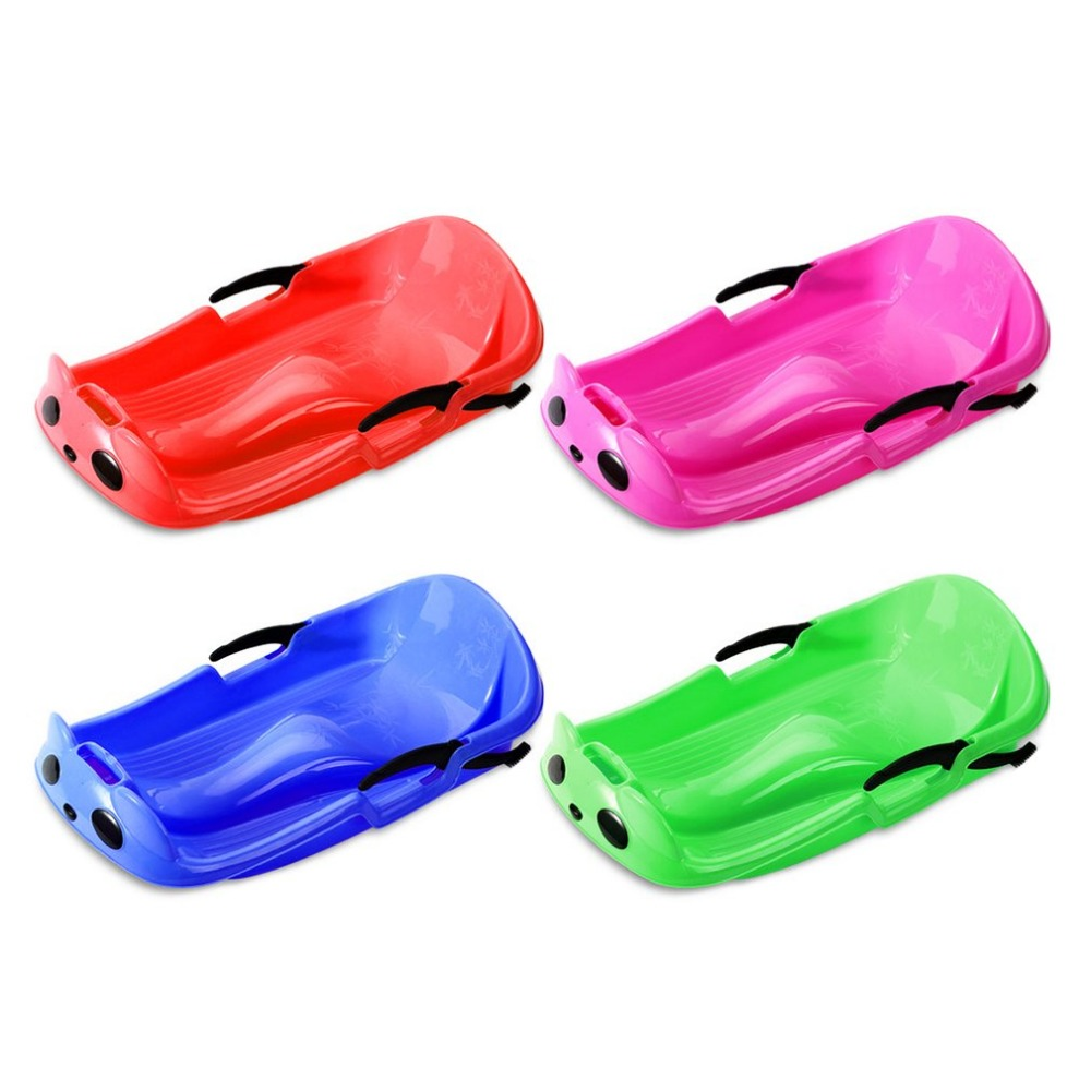 Wear-resistant Frost-resistant Thickened Sled Snowboard Grass Skiing Car Sliding Plate With Security Brake For Kids Wholesale