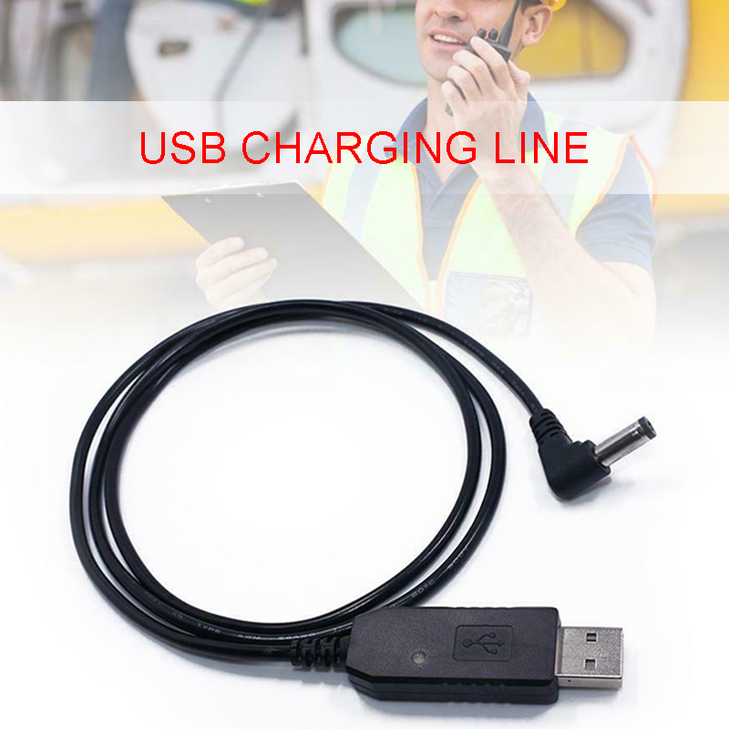 1pc Walkie Talkie USB Charger Cable For Baofeng BF-F8HP UV-82HP UV-5X3 UV-5R UV-5RA USB Charge Wire Walkie Talkie Accessories
