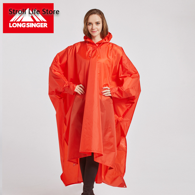 Outdoor Rain Poncho Hiking Raincoat Walking  with Sleeves Floor Cloth Rain Coat Thicken Riding Mountaineering Rain Gear Gift 2