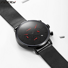 SINOBI Men Military Watch 2018 Quartz Wristwatch Sports Chronograph Wrist Watch Meskie Luxury Brand Date Male Geneva Male Clock sinobi causal business men wrist watches leather watchband luxury brand males geneva quartz clock gentleman wristwatch 2017 f45